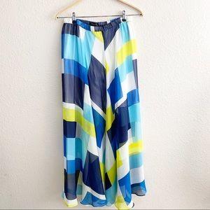 Ann Taylor Abstract Maxi Skirt